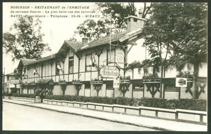 Restaurant l'Ermitage Sceaux France postcard 1910s