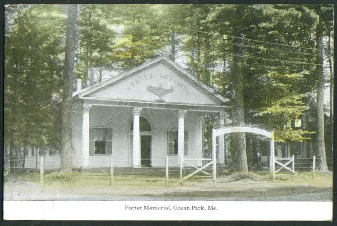 Porter Memorial at Ocean Park ME postcard 1922