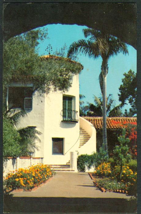 La Casa Santa Barbara Biltmore CA postcard 1972