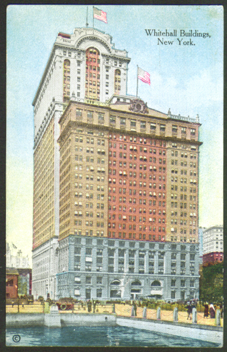 Whitehall Building & Addition New York City NY postcard 1910s