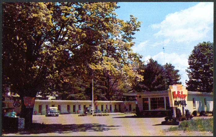 Holiday Motel Brattleboro VT postcard 1950s