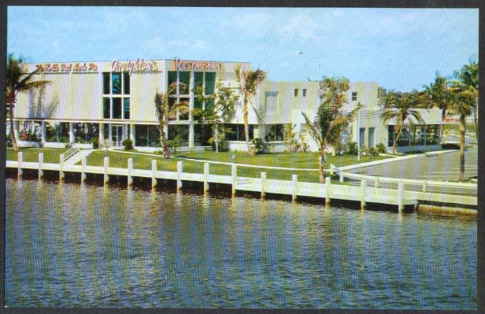 Creighton's Restaurant Fort Lauderdale FL postcard 1950s
