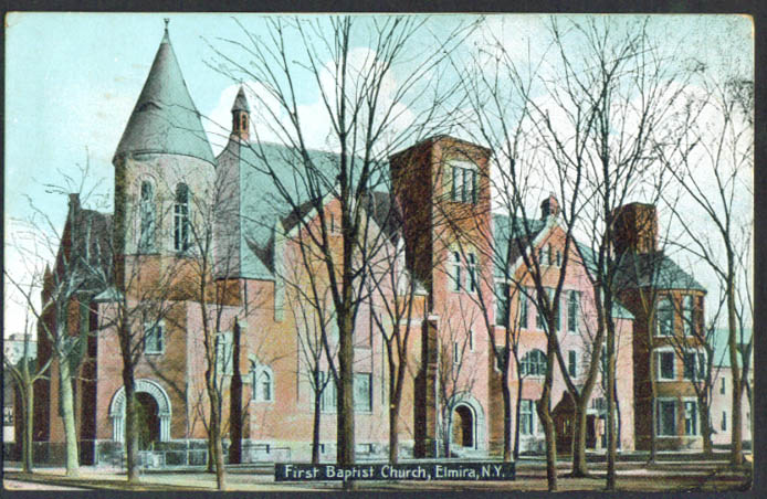 1st Baptist Church Elmira NY postcard 1910s