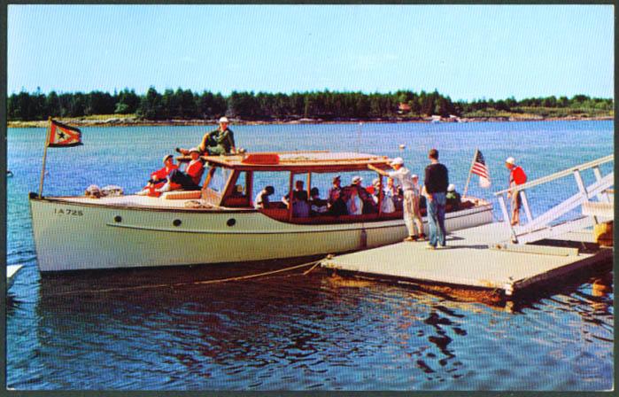 38' Cruiser Ruth Sebasco Estates Lodge ME postcard 1950s