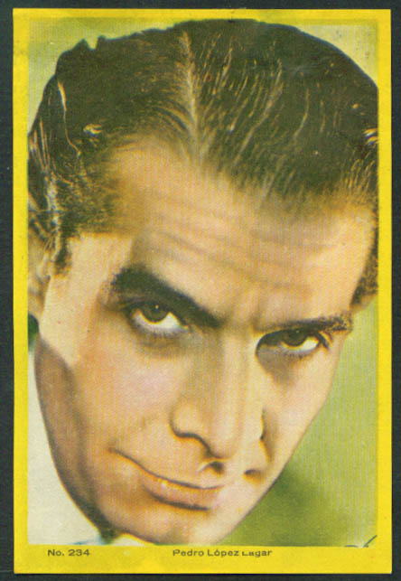 Pedro Lopez Lagar 3x5 pic Argentina movie star 1959