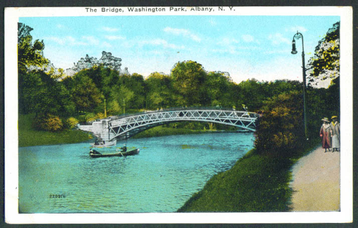 Washington Park Bridge Albany NY postcard 1910s