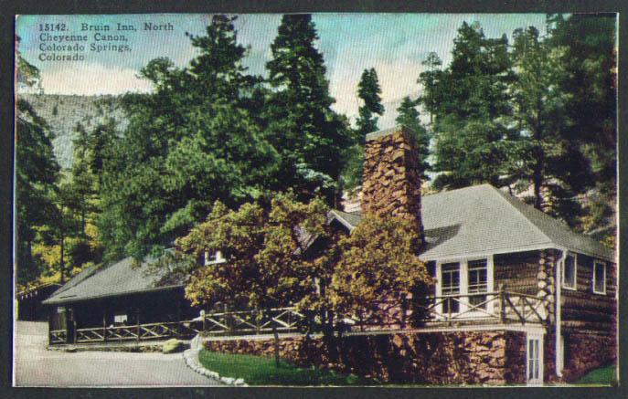 Bruin Inn N Cheyenne Canon CO postcard 1910s