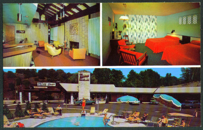 Springs Motor Inn New Ashford MA postcard 1950s