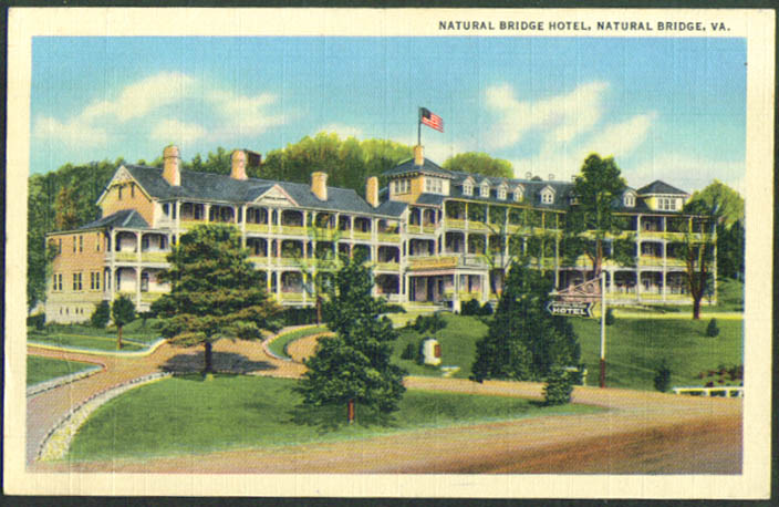 Natural Bridge Hotel Natural Bridge VA postcard 1940s