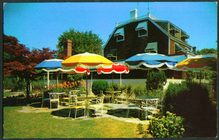 Bowden Square Restaurant Southampton NY postcard 1950s