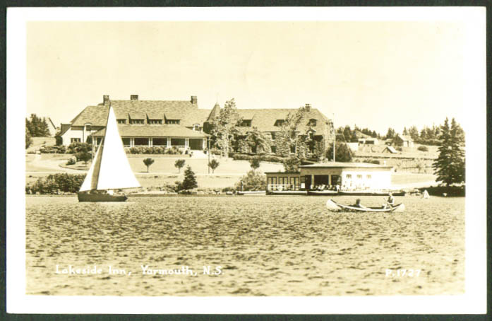 Lakeside Inn Yarmouth Nova Scotia RPPC 1951