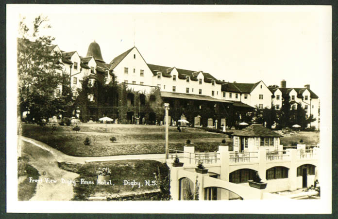 Digby Pines Hotel Digby Nova Scotia RPPC 1930s