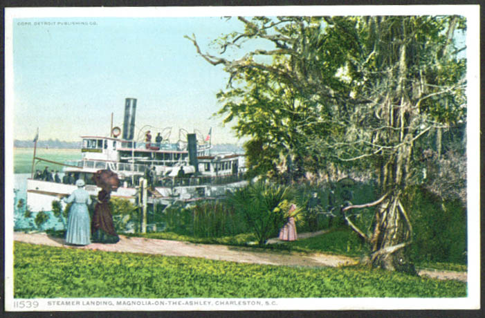 Steamer General Magnolia-on-the-Ashley French Charleston SC postcard 1910s