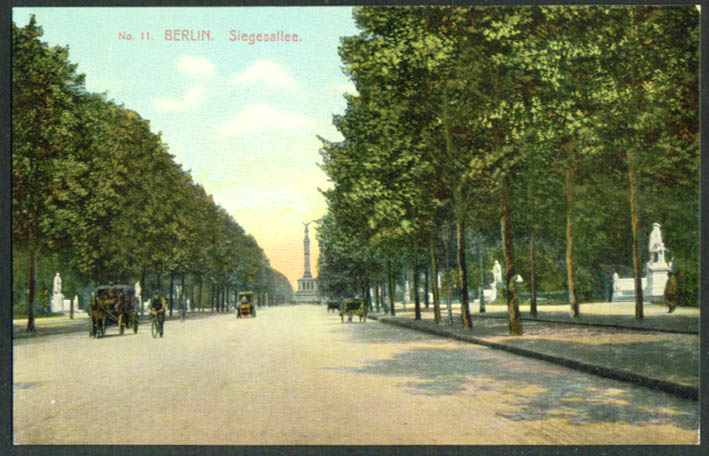 Siegesallee Berlin Germany postcard 1910s