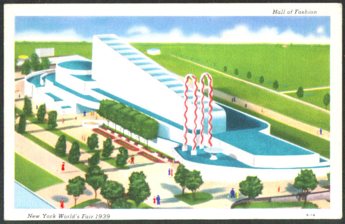 Hall of Fashion New York World's Fair postcard 1939 A-14
