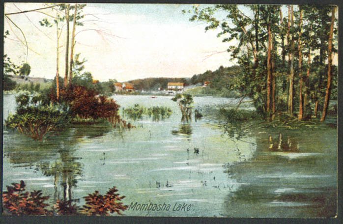 Mombasha Lake Orange County NY postcard 1907