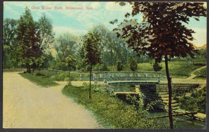 Glen Miller Park Richmond IN postcard 1913