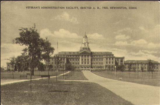 Veteran's Administration Facility Newington CT postcard 1930s