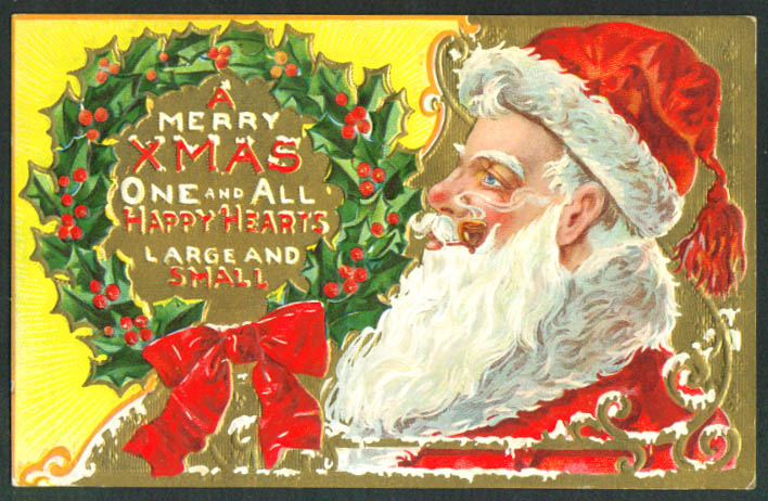 Santa Claus Merry Xmas One & All postcard 1910s