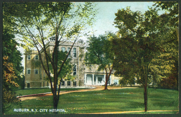 City Hospital at Auburn NY postcard 1910s