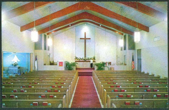 Pass-A-Grille Church St Petersburg FL postcard 1959