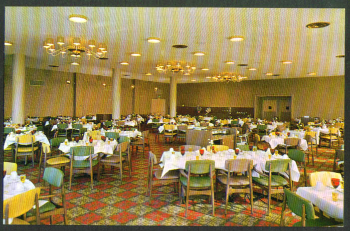 Dining Rogue Valley Manor Medford OR postcard 1950s