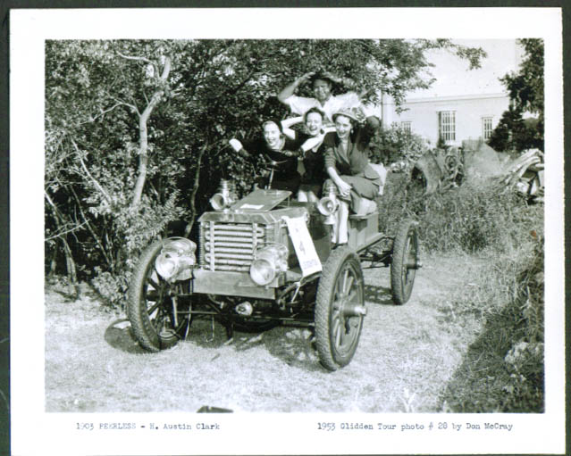 1903 Peerless of H Austin Clark 1953 Glidden Tour 4x5