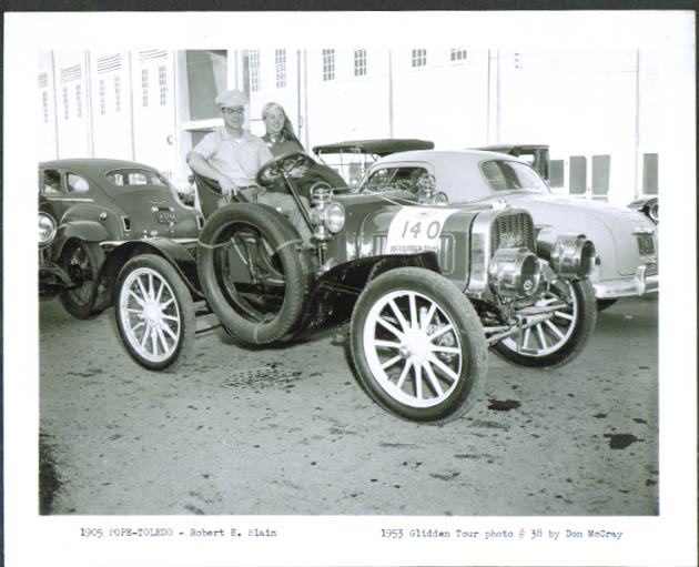 1905 Pope-Toledo Robert E Blain 1953 Glidden Tour 4x5