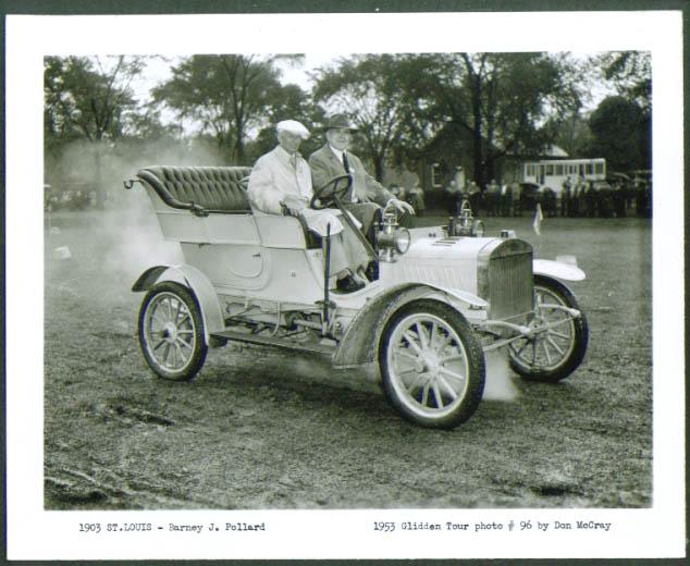 1903 St Louis of Barney J Pollard 1953 Glidden Tour 4x5