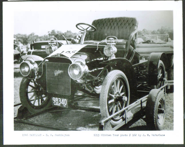 1906 Cadillac of D R Huntington 1953 Glidden Tour 4x5