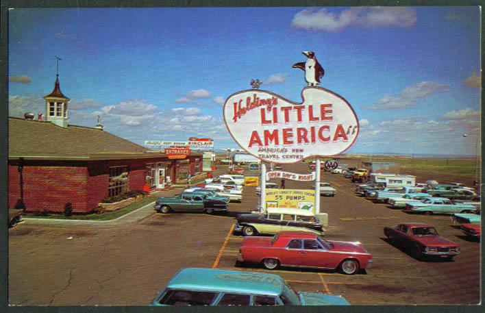 Holding's Little America Motel WY postcard 1960s