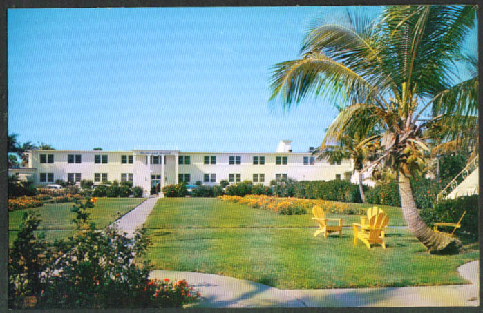 Surf & Sand Hotel Lido Beach Sarasota FL postcard 1950s