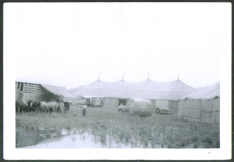 Image for Mills Bros Big Top circus snapshot Pittsfield MA 1954