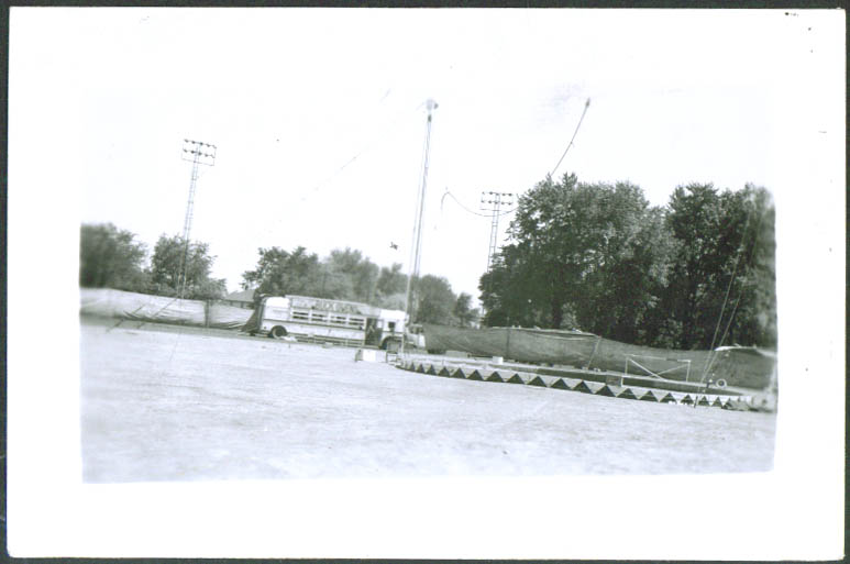 Ring at Buck Owens circus snapshot Frankfort IN 1949
