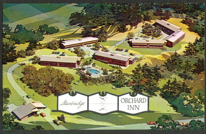 Sturbridge Orchard Inn Sturbridge MA postcard 1950s