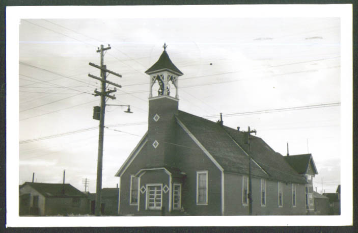 Old Church in Nome AK RPPC postcard 1959