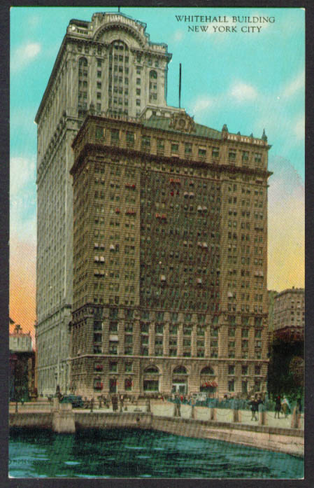 Whitehall Building New York City NY postcard 1910s