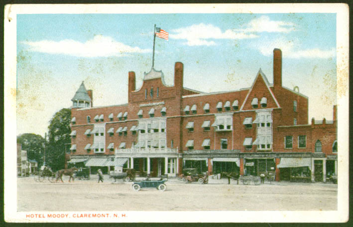 Hotel Moody at Claremont NH postcard 1910s