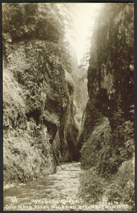 Oneonta Gorge Columbia River Highway OR RPPC 1920s