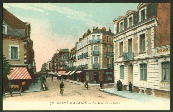 Au Chat Noir Rue l'Ocean Saint-Nazare France postcard 1910s