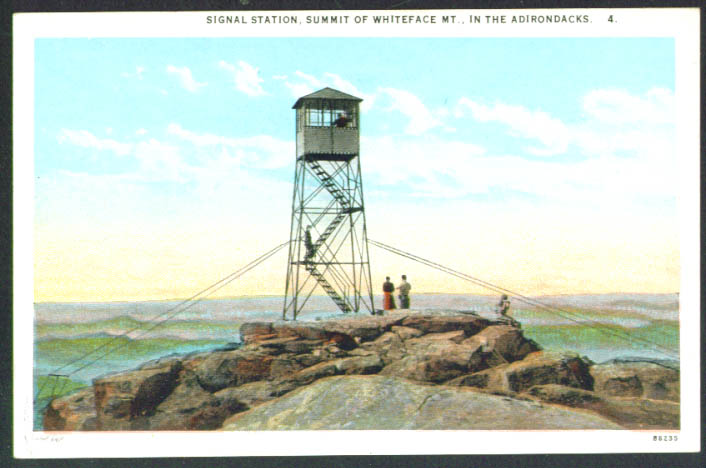 Signal Station atop Whiteface Mountain NY postcard 1910s