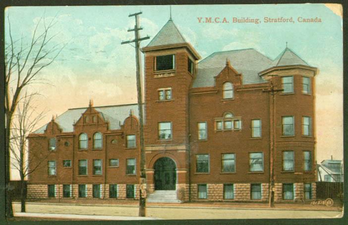 Y M C A YMCA Building Stratford ON postcard 1909