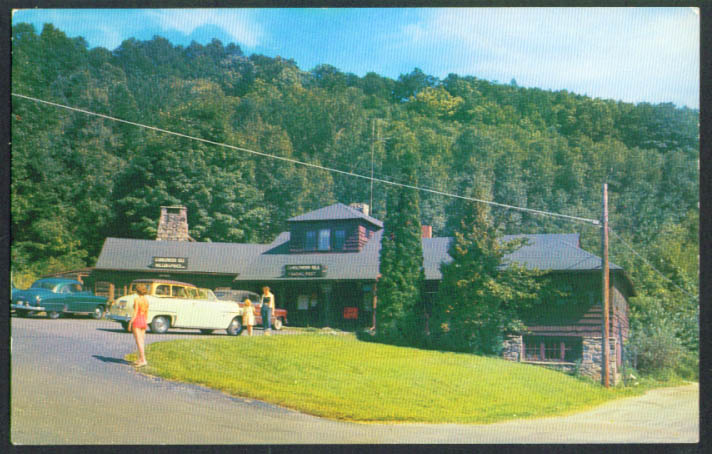 Trading Post Office Candlewood Isle CT postcard 1950s