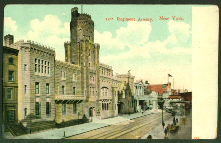 14th Regiment Armory New York City postcard 1910