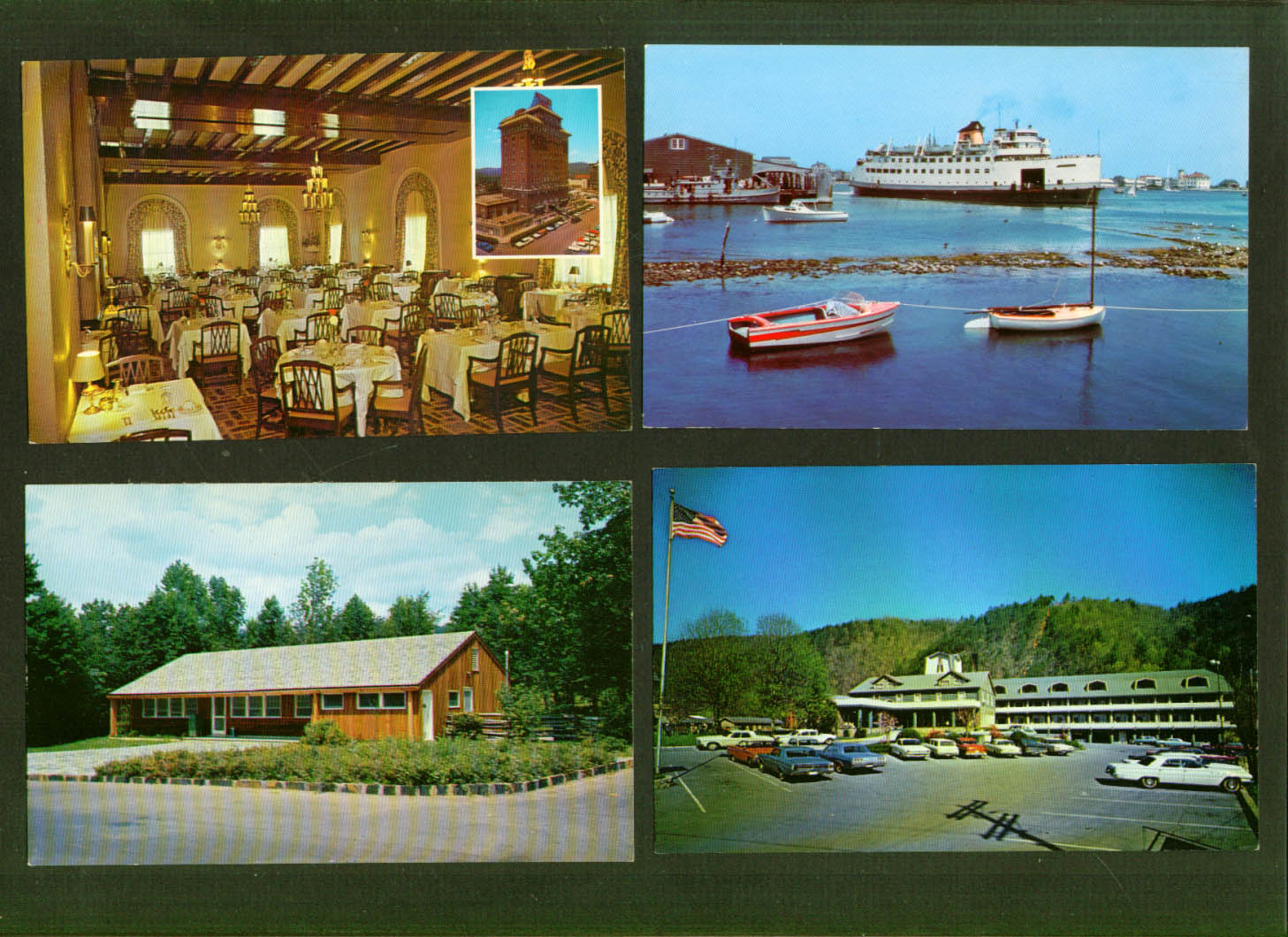 Battery Park Hotel Terrace Dining Asheville NC postcard 1950s