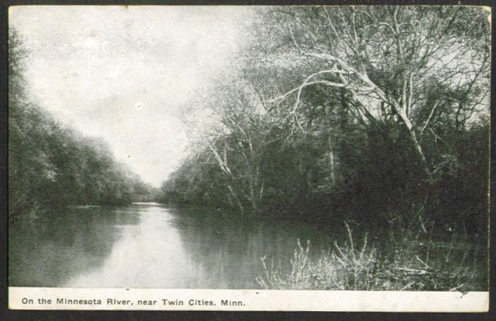 Minnesota River near Twin Cities MN postcard 1910s