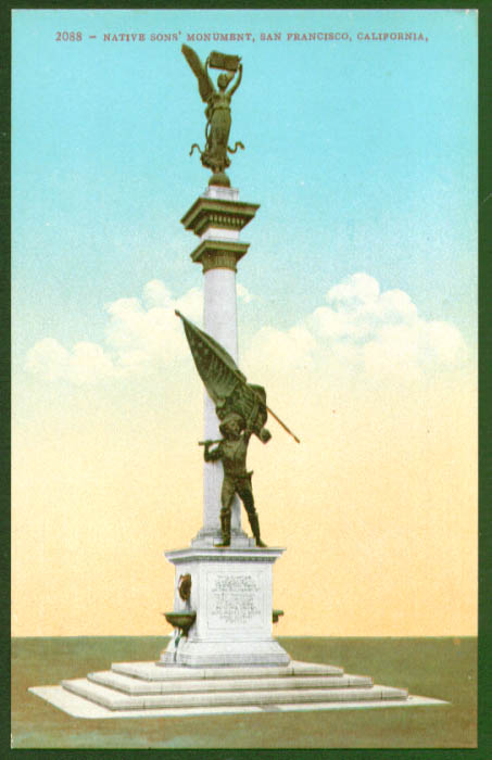 Native Sons Monument San Francisco CA postcard 1910s