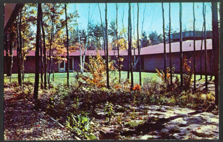 Dow Commons Northwood Institute Midland MI postcard 1950s