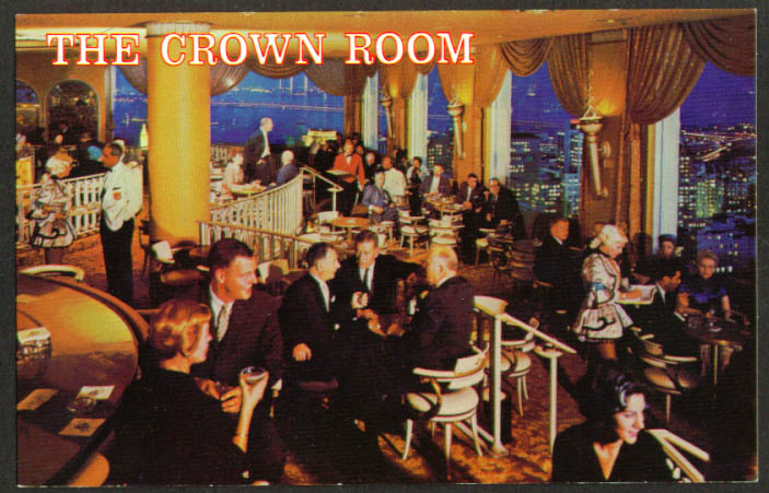 Crown Room Fairmont Hotel San Francisco postcard 1960s