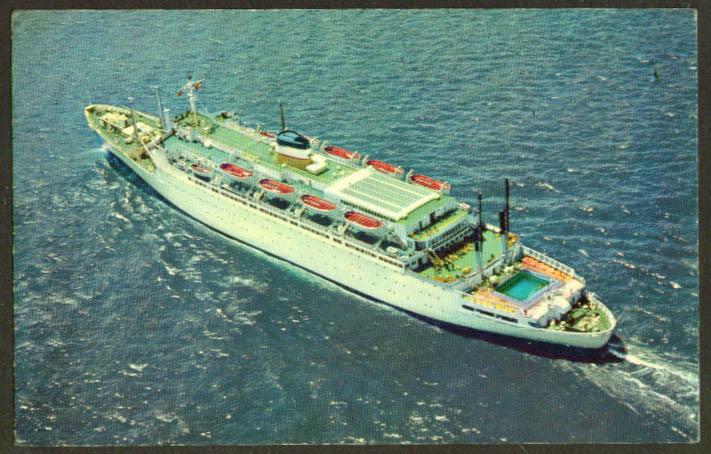 American Export Isbrandtsen S S Atlantic postcard 1964